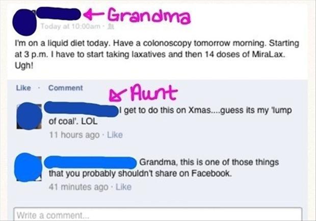 Funny Facebook Updates Grandman On Facebook