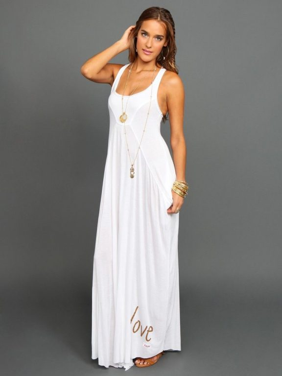Peace Love World Maria Boheme White Maxi Dress Boheme Collections Women