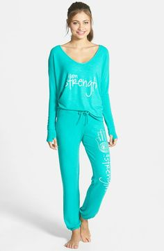 Peace Love World Top Cropped Sweatpants Available At Nordstrom