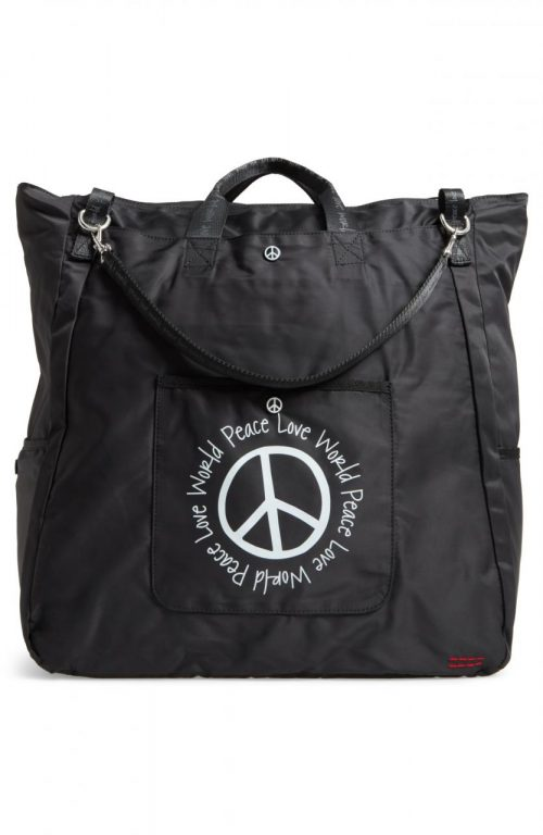 Peace Love World Nylon Tote