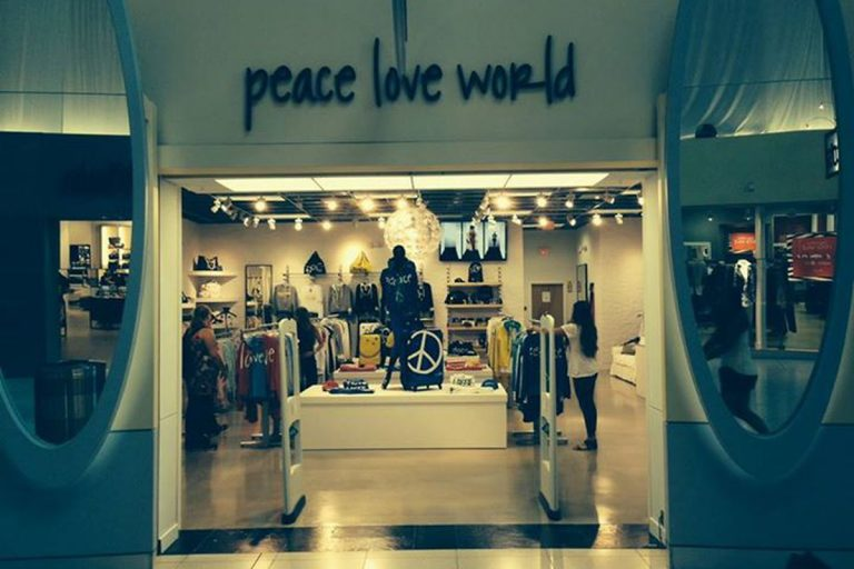 P O Peace Love World Peace Love Worlds Dolphin Mall