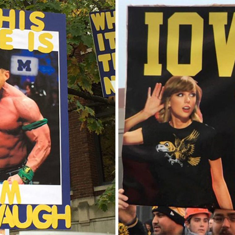 See The Funniest Fan Signs From This Past College Football Season