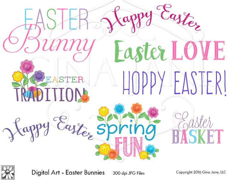 Easter Bunny Happy Easter Spring Fun Easter Tradition Hoppy Easter Word Art By Gina Jane