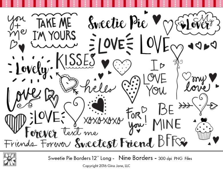 Typography Valentines Day Word Art