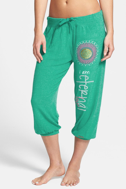 Image Of Peace Love World Comfy Cropped Sweatpants