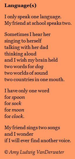 This Poem Languages Expresses Admiration For A Bilingual Friend