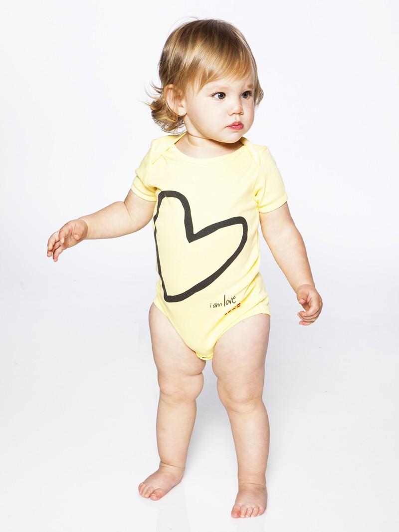 I Am Love Yellow Short Sleeve Infant Onesie Peaceloveworld