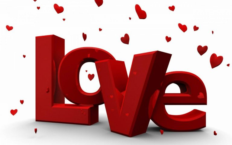 D Love Word White Wallpaper Hd Free