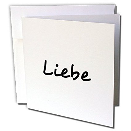 Get Quotations  C B Drose Liebe Word For Love In German Black Text Greeting Cards