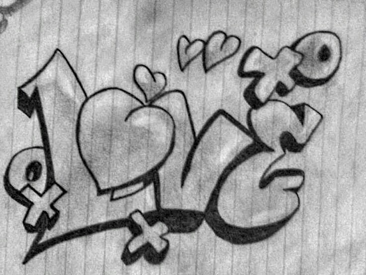 Love Is A  Letter Word Graffiti