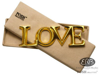 Posh Graffiti Wooden Word Love In