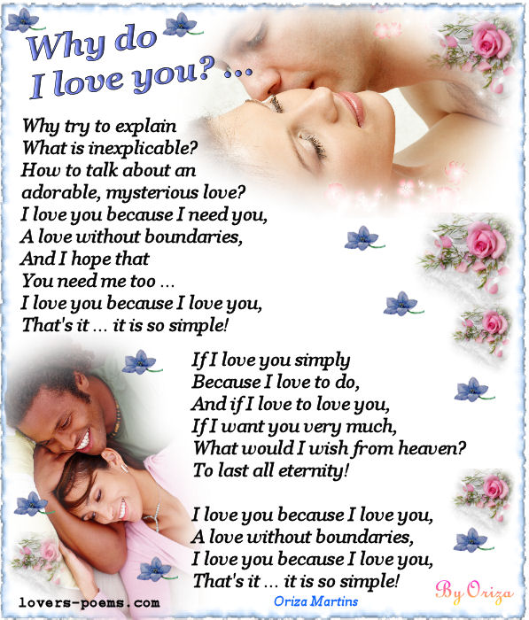 E Card Why Do I Love You