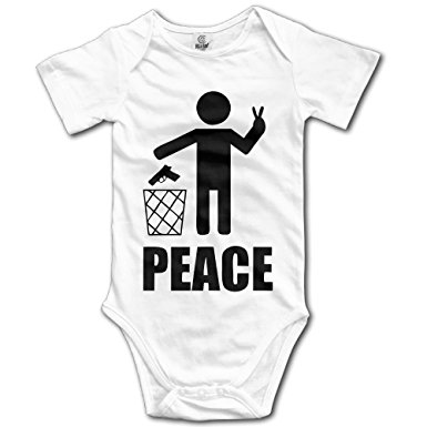 Xuyongfei Baby Make Love Not War Peace World Cotton Infant Onesie Baby Onesie