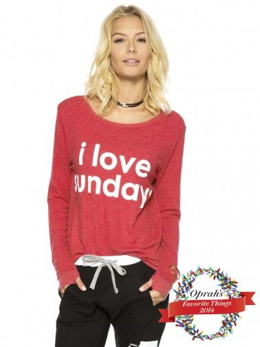 Peace Love World Clothing I Love Sundays Lollipop Oversized Comfy Top Best Sellers
