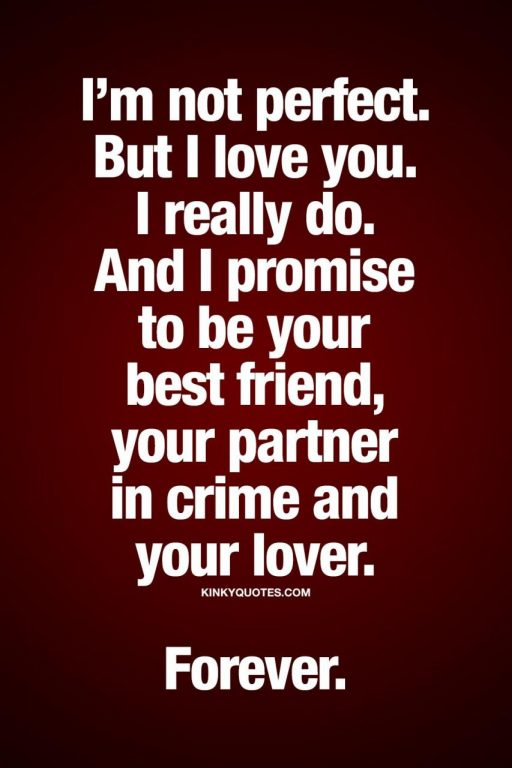 But I Love You I Really Do And I Promise To Be Your Best Friend Your Partner In Crime And Your Lover Forever Truelove Relationship Quote