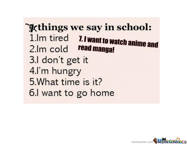 Things We Say In School