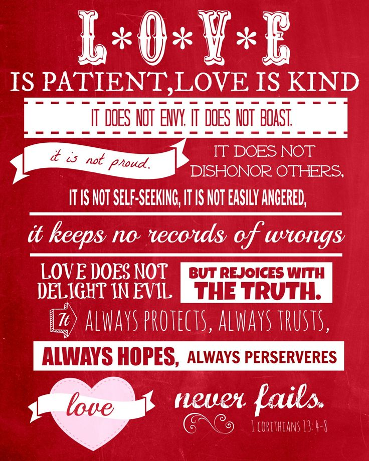 Love Is Patient Word Art Put In A Frame To Display