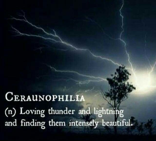 Word Ceraunophilia N Loving Thunder And Lightning And Finding Them Intensely Beautiful