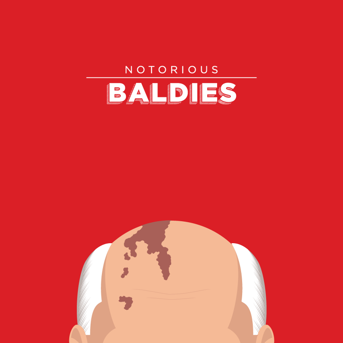Funny Il Rations Of Pop Cultures Most Notorious Baldies