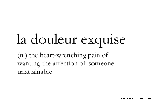 La Douleur Exquise On Tumblr French Word For Lovebeautiful