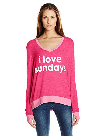 Peace Love World Womens I Love Sundays Comfy Cozy Sweatshirt At Amazon Womens Clothing Store