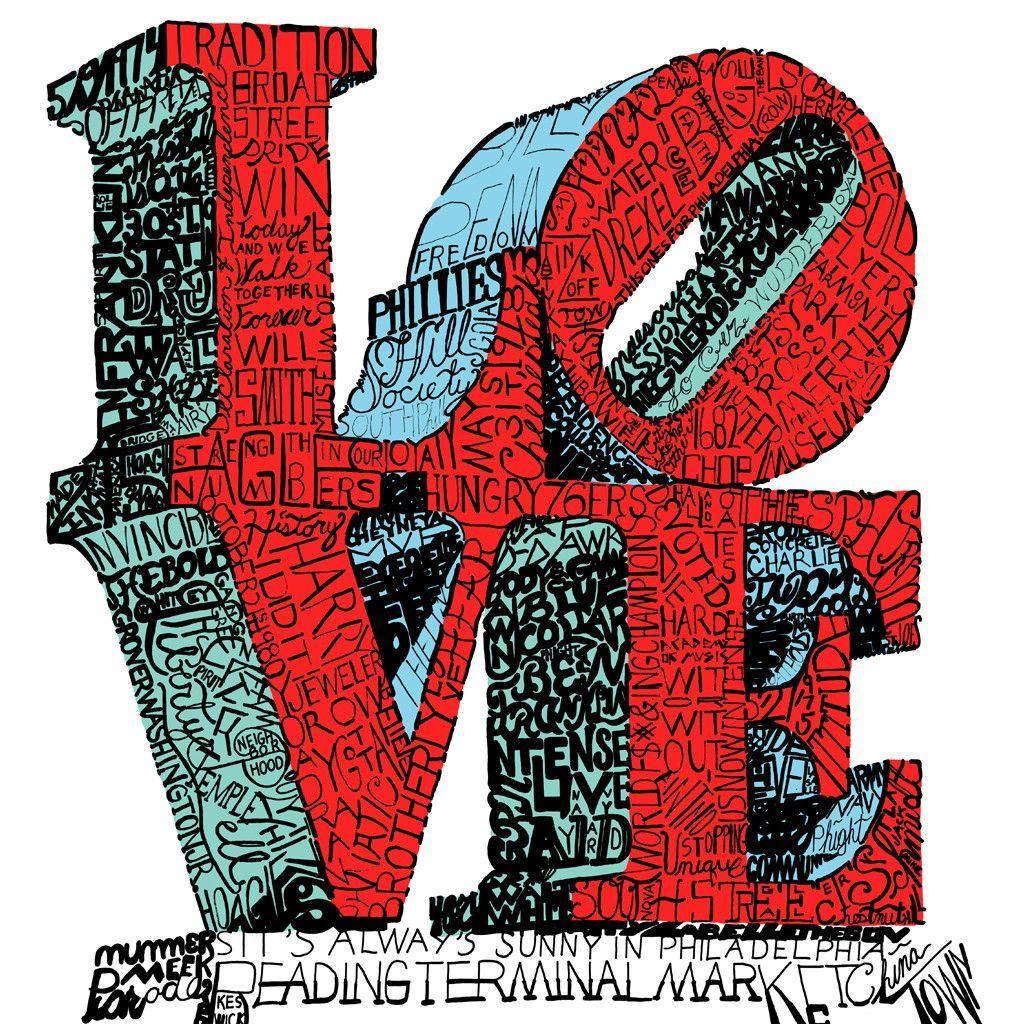 Things Philadelphians Love Word Art