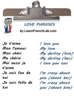 I Love You In French