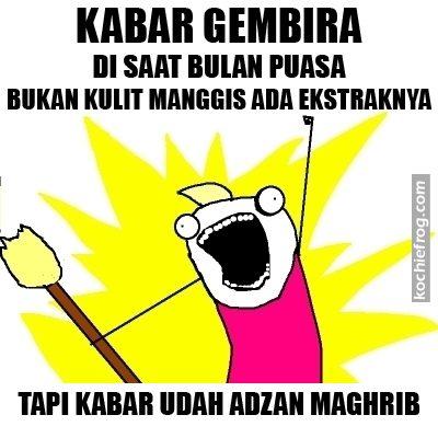 Meme Kata Lucu Puasa Ramadhan Terbaru Kochie Frog