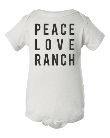 Hidden Valley Peace Love Ranch Baby Onesie