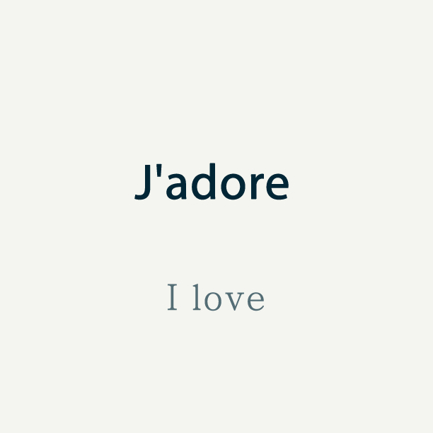 Talk In French On Twitter French Word Of The Day Jadore I Love