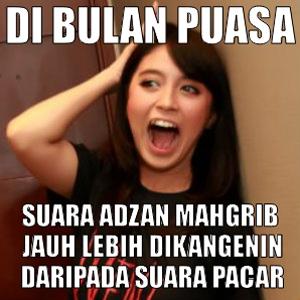 Dp Bbm Meme Lucu Suara Adzan Di Kangenin Saat Puasa Dp Bbm Puasa Ramadhan