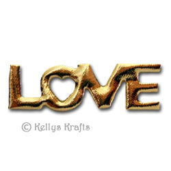 Fabric Love Word Gold