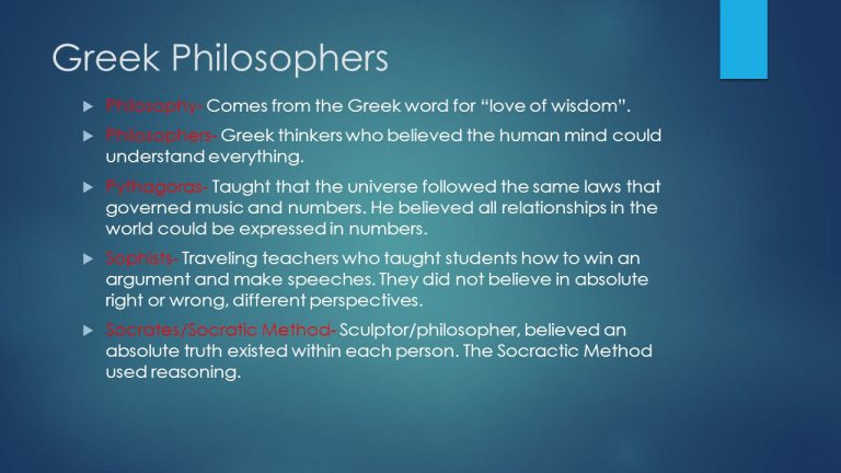 Greek Philosophers Philosophy Comes From The Greek Word For Love Of Wisdom