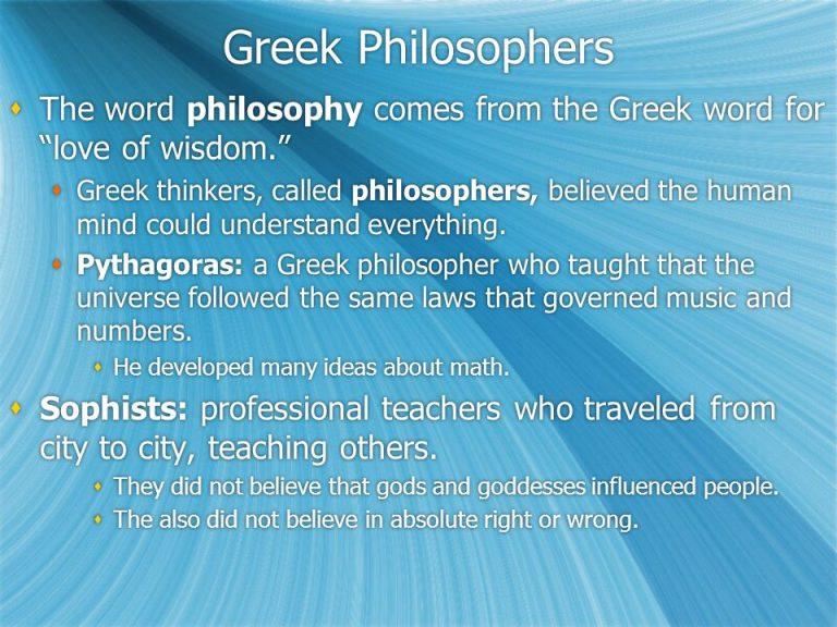Greek Philosophers The Word