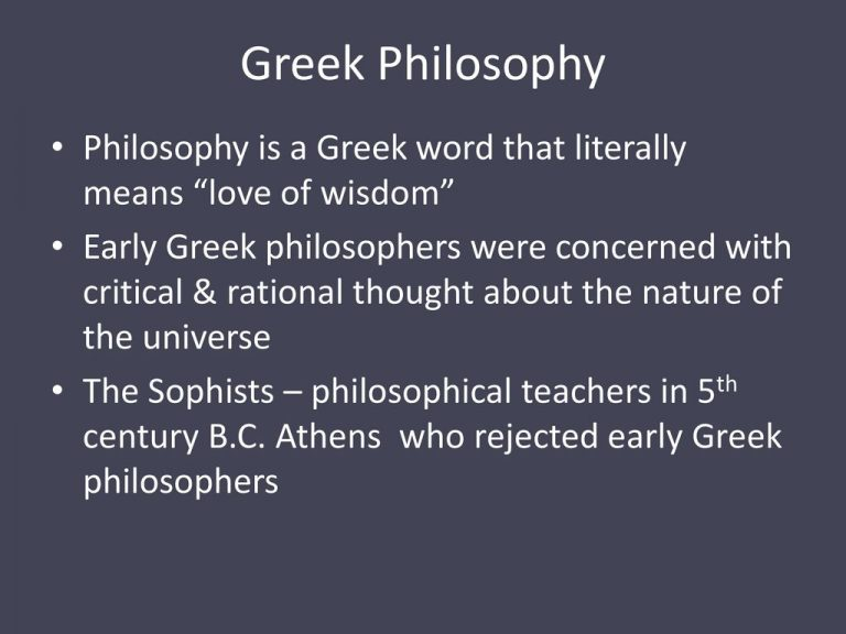 Greek Philosophy Philosophy Is A Greek Word That Literally Means Love Of Wisdom