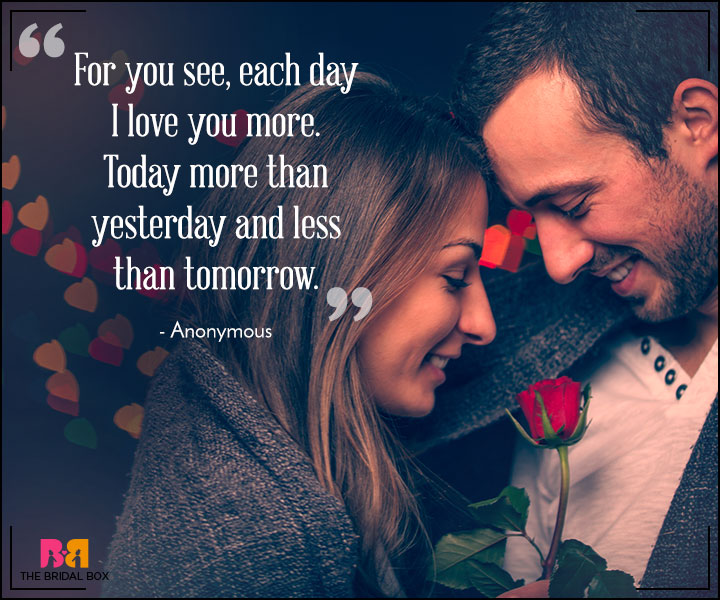 Heart Touching Love Quotes For Her Today More Yesterday Less Than Tomorrow