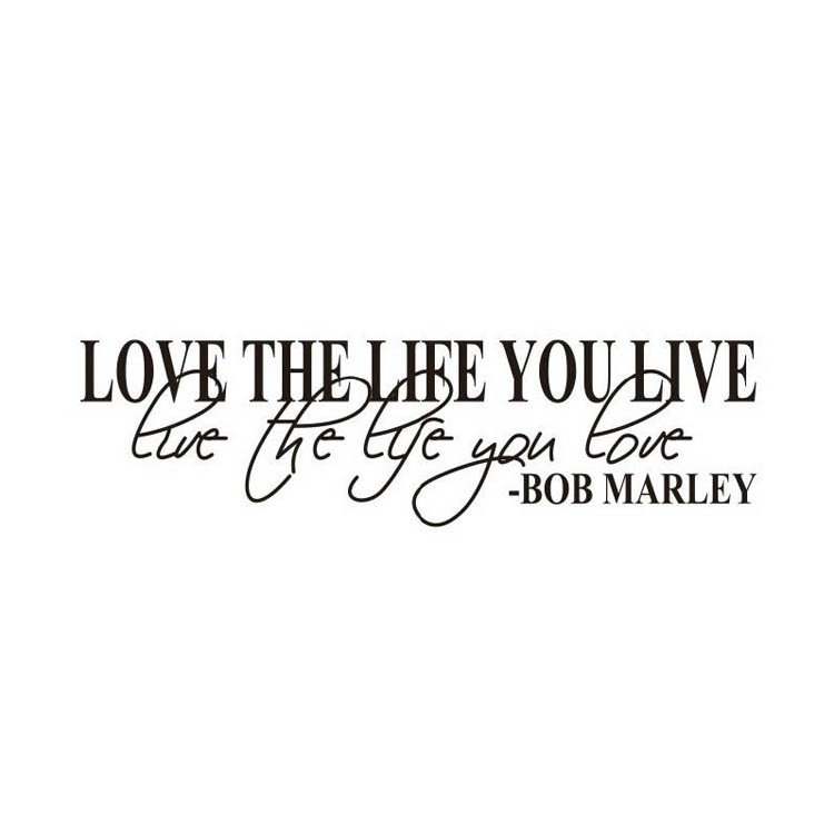 Selling Bob Marley Quote Wall Decals Decor Love Life Words Large Nice Sticker Text Room Decoration Hg  In Wall Stickers From Home Garden On