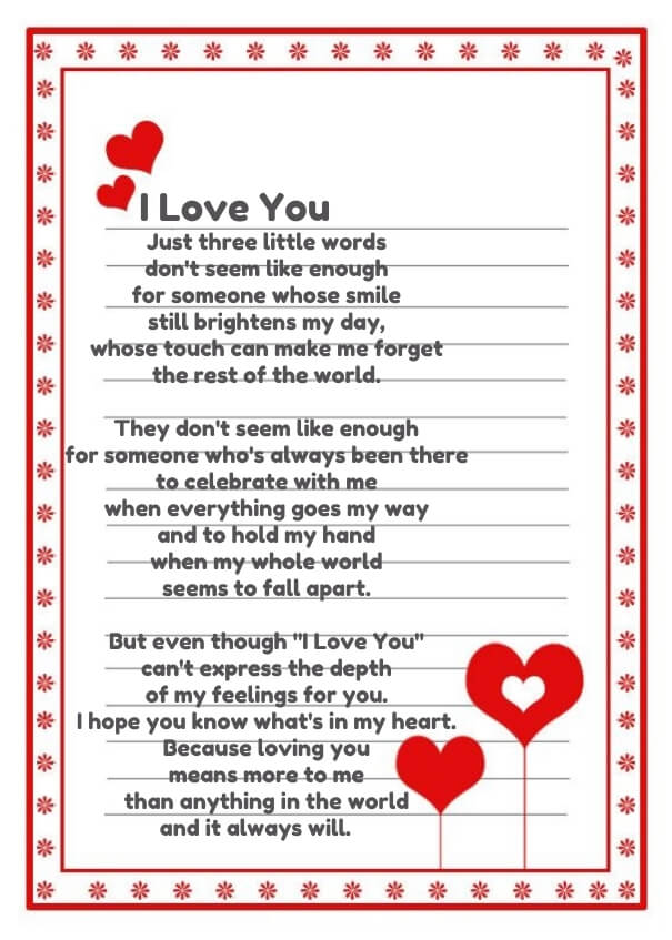 I Love You Poems For Her