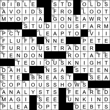La Times Crossword Answers  Friday