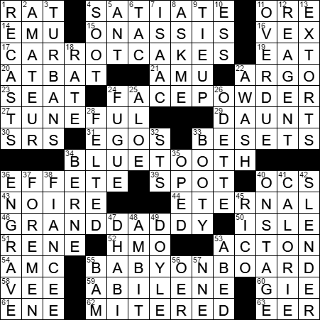 La Times Crossword Answers  Tuesday
