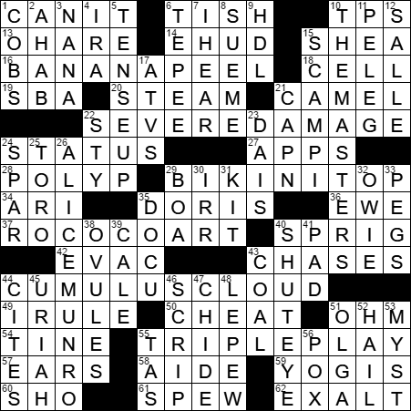 La Times Crossword Answers  Wednesday