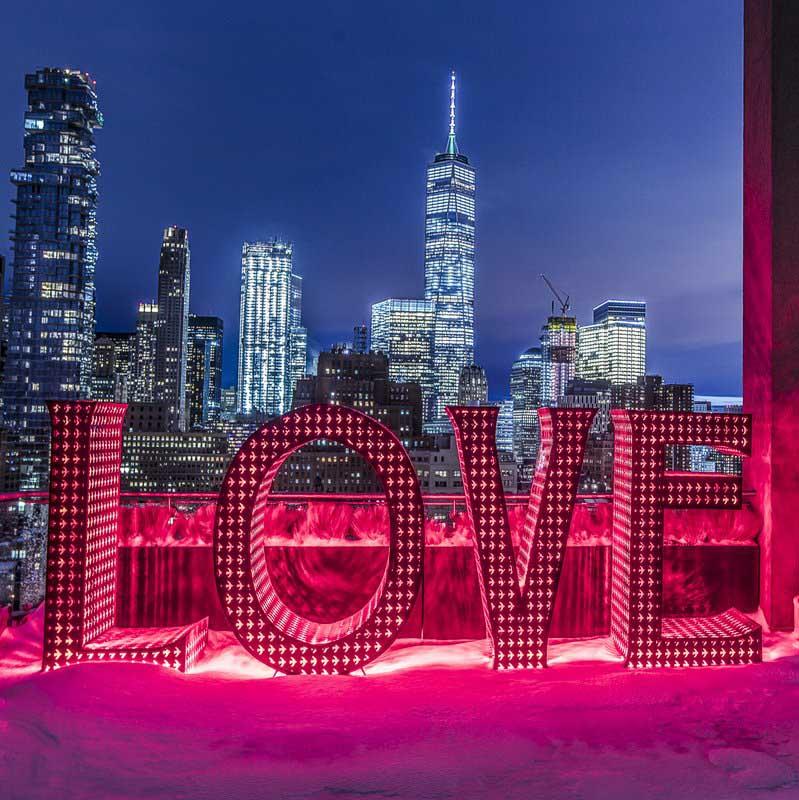 Love Monumental Word Sculpture Big Words Kimpton Artist Jamesel