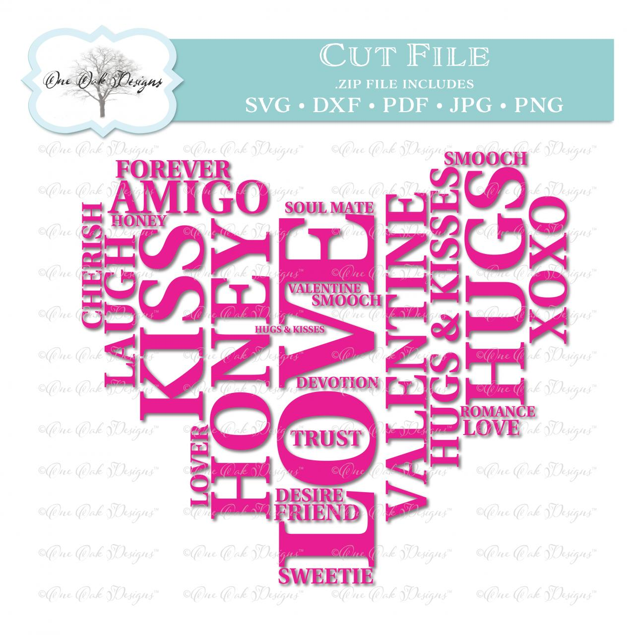 Love Heart Valentine Word Cloud