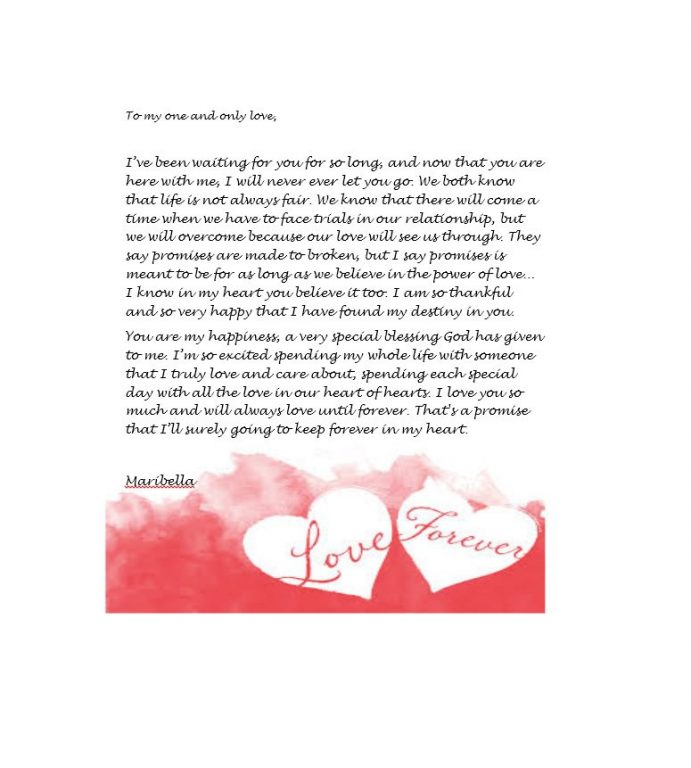 Romantic Love Letters For Her For Him