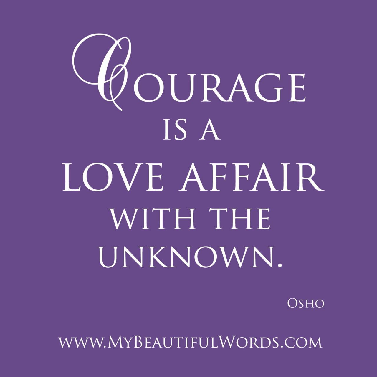 Courage Is A Love Affair