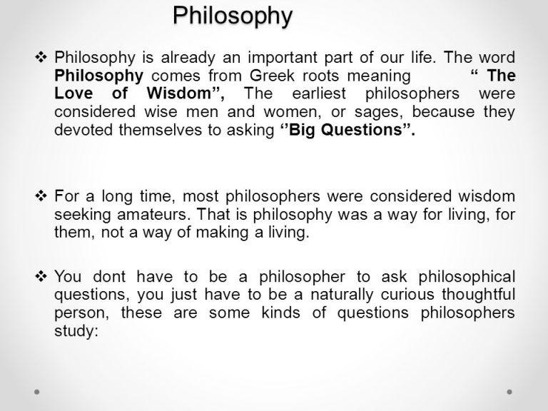 Philosophy Philosophy