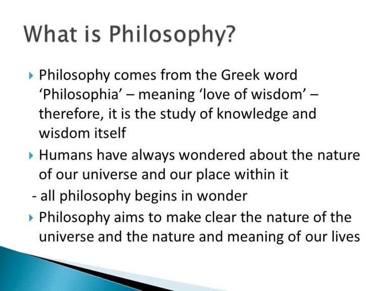 What Is Philosophy Philosophy Comes From The Greek Word