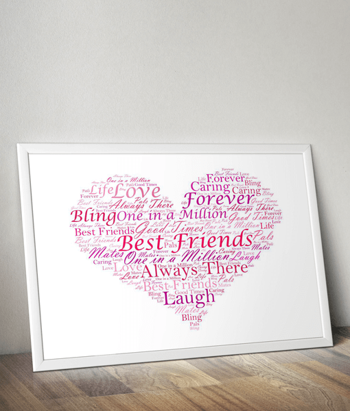 Love Word Art Print