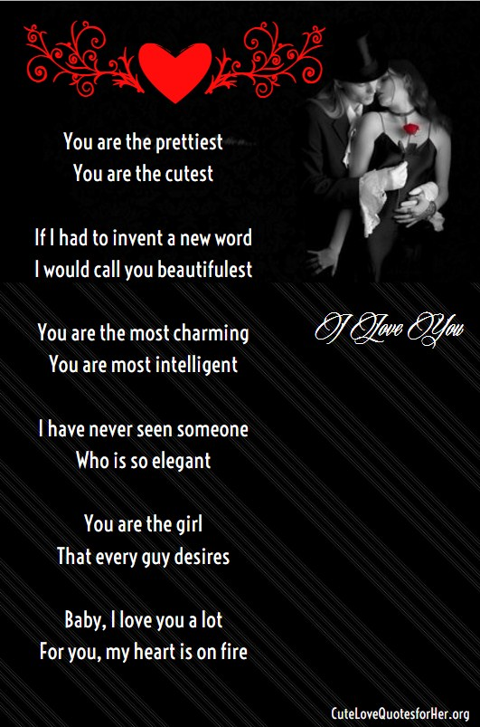 You Are Beautiful Love Poem For Her
