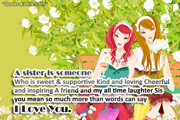 A Sister Is A Friend